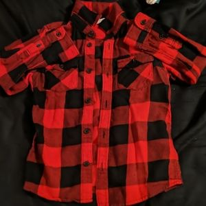 Red and Black Plaid longsleeve